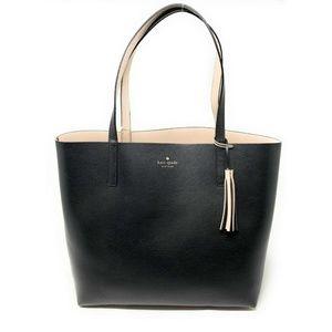 Kate Spade Reversible Leather Tote Bag Black
